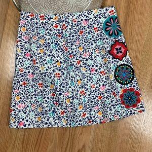 Boden Katrina Skirt Floral Embroidered
